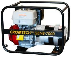 Honda powered, This 5000w (max. output) petrol generator is a simple, no fuss unit designed for general purpose use. Assembled and tested in our Australian factory.