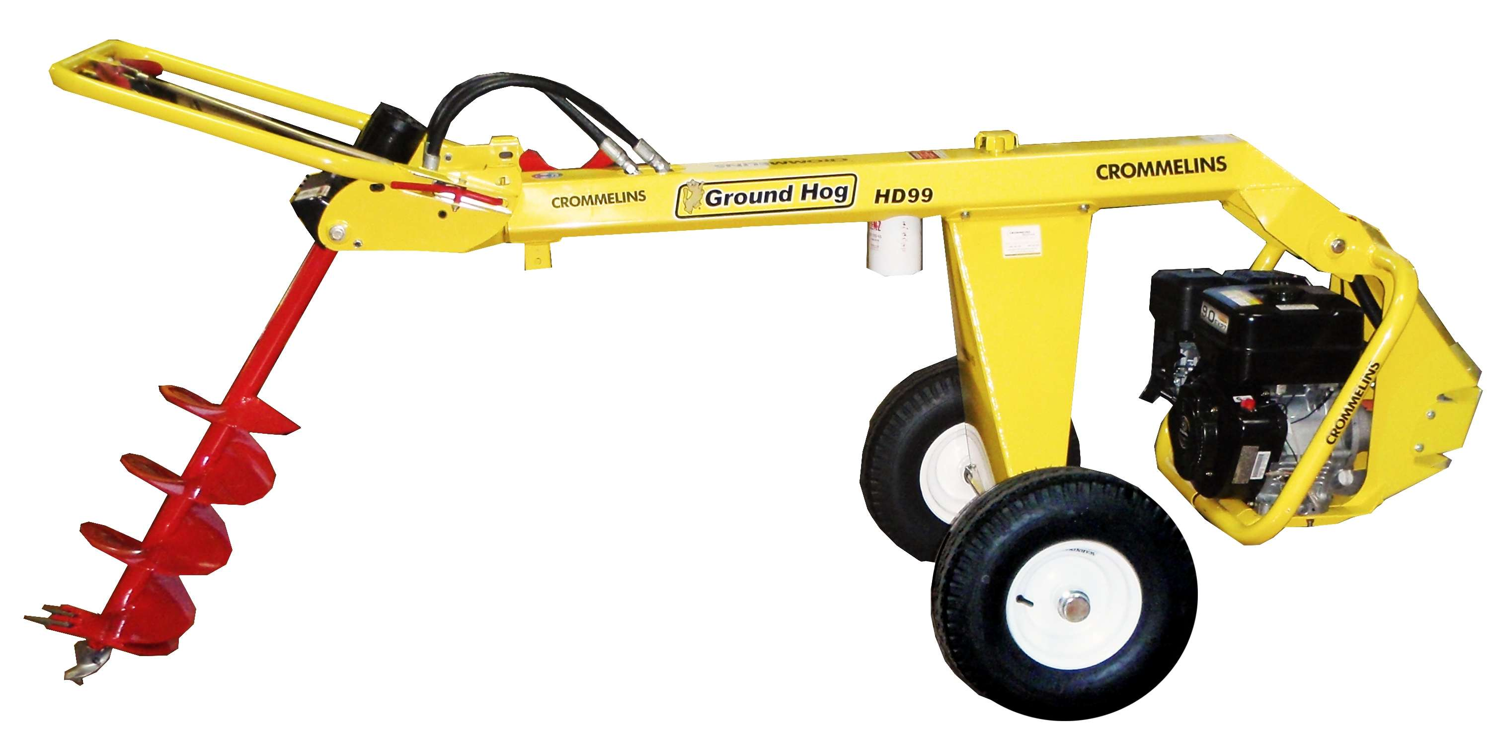 9.0hp Crommelins Post Hole Digger Hydraulic | Crommelins Machinery