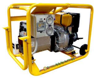 Crommelins Welder Generator Diesel Electric Start Hirepack180amp