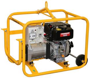 Crommelins Generator Diesel Yanmar Hirepack Estart 3500w
